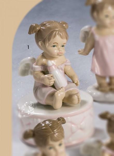 Carillon angioletto porcellana bomboniere roccaro - Carillon portagioie bambina ...