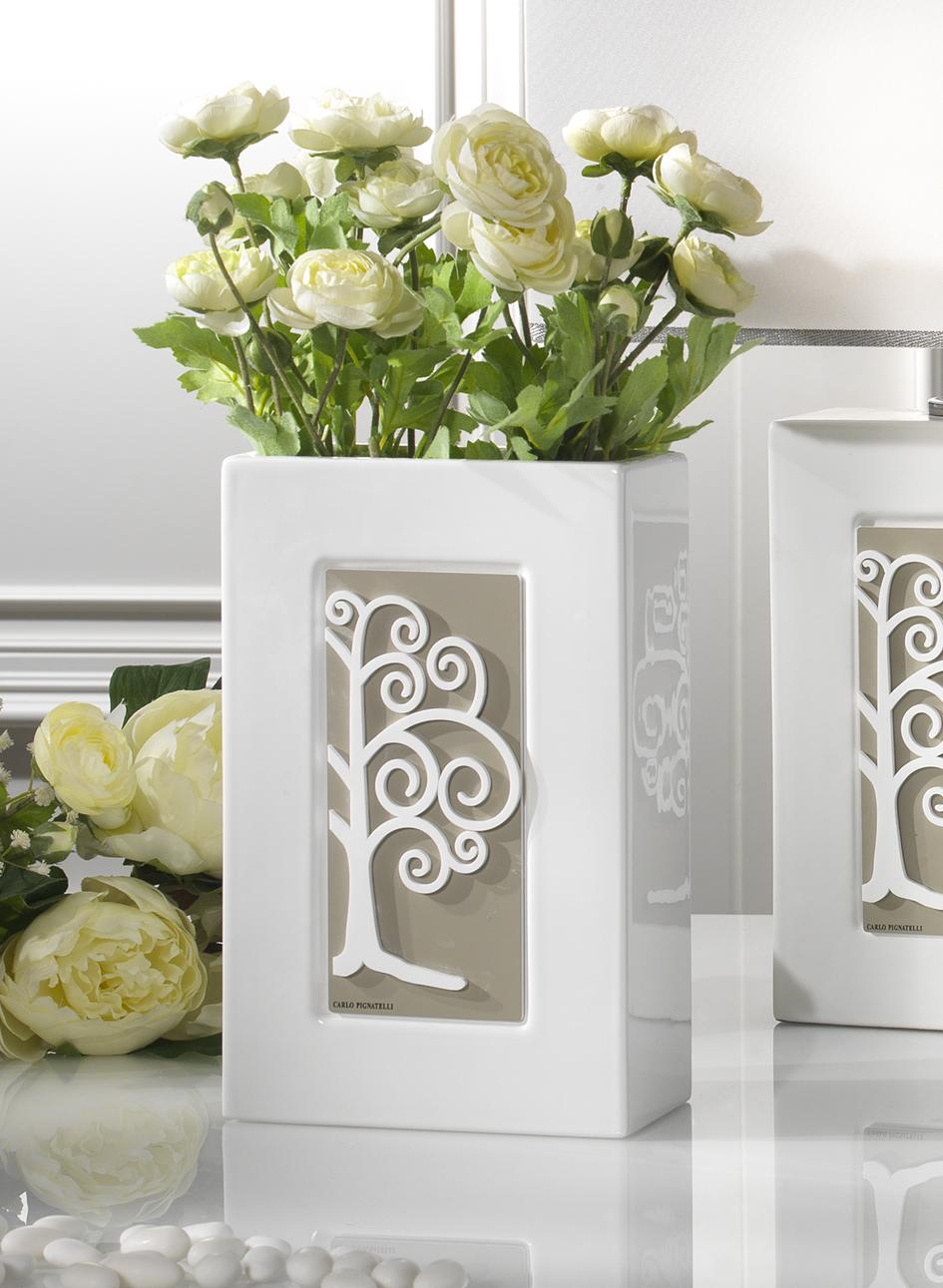 Vaso porta fiori in porcellana con albero bomboniere roccaro for Vasi per bonsai prezzi