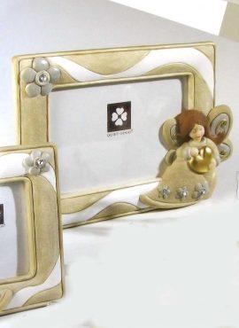 Cornice angelo in resina 19×15 cm