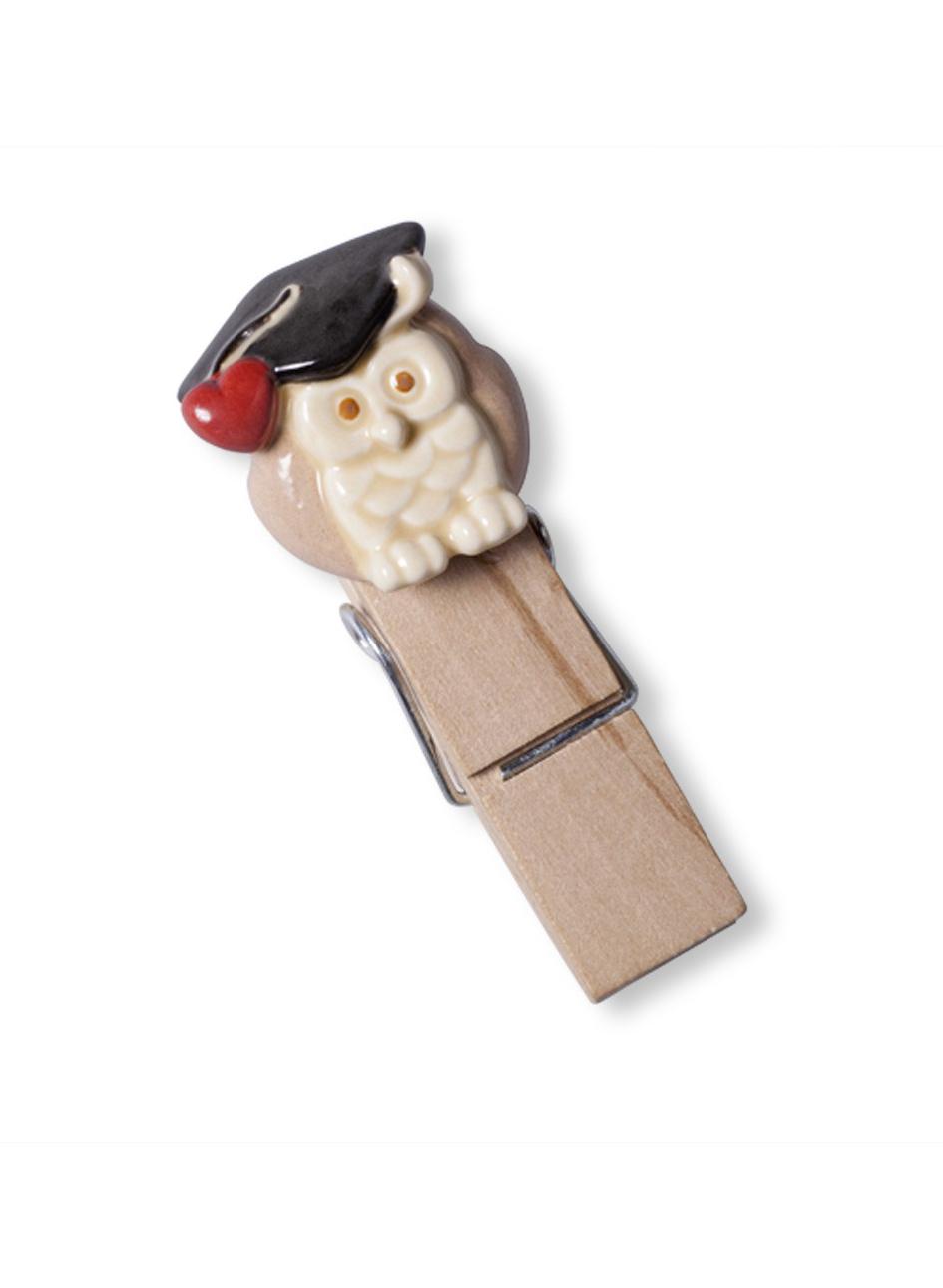 Molletta legno con gufo bomboniere roccaro - Portafoto con molletta ...