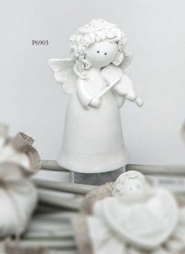 Angioletto riccio porcellana grande