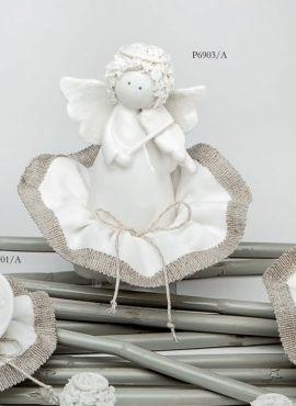 Angioletto riccio porcellana con sacchetto