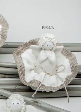 Angioletto riccio porcellana medio con sacchetto  puffetto