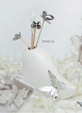 Diffusore vasetto cuore con sticks farfalle