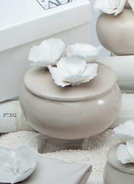 Scatola porcellana fiori
