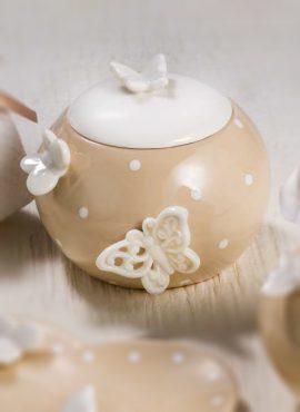 Scatola zuccheriera in porcellana