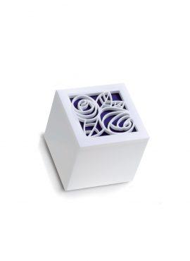Scatola Cubo Plexi begonia