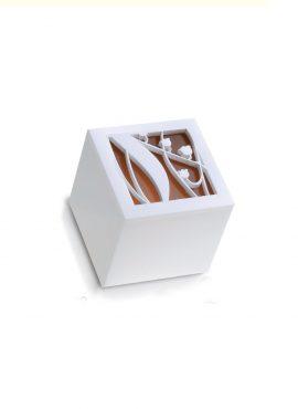 Scatola Cubo Plexi mughetto