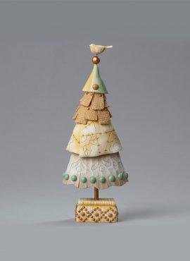 Piccolo albero di Natale con uccello