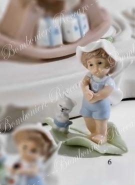 Angioletto porcellana celeste con cucciolo