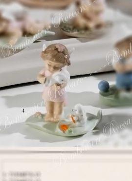 Angioletto porcellana con cuccioli