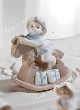 Cavalluccio porcellana con bimbo