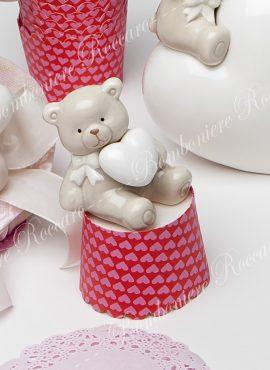 Orsetto porcellana piccolo con cuore