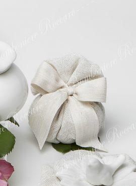 Sacchetto Porta confetti lino