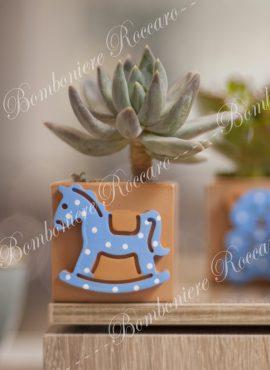 cavalluccio dondolo azzurro